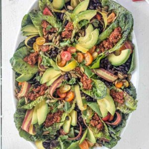 The Ultimate Vegan Taco Salad recipe { @beardandbonnet } www.thismessisours.com