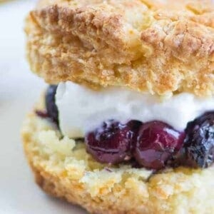 Blueberry Lavender Shortcakes recipe { @beardandbonnet www.thismessisours.com }
