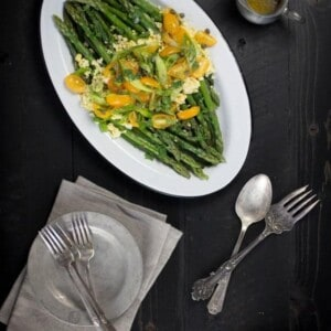 Spring Asparagus Salad recipe { @beardandbonnet www.thismessisours.com }