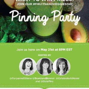 You are invited to a #FruitsandVeggiesDay pin party!!!