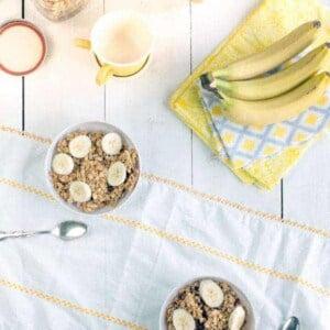 French Vanilla Granola recipe { @beardandbonnet www.thismessisours.com }