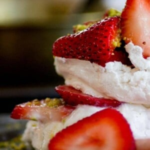 Mini Strawberry Rosewater Pavlovas recipe by @beardandbonnet www.beardandbonnet.com