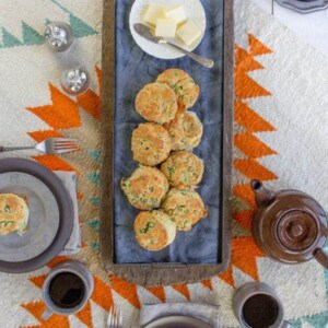 White Cheddar and Scallion Biscuits { www.beardandbonnet.com @beardandbonnet.com }
