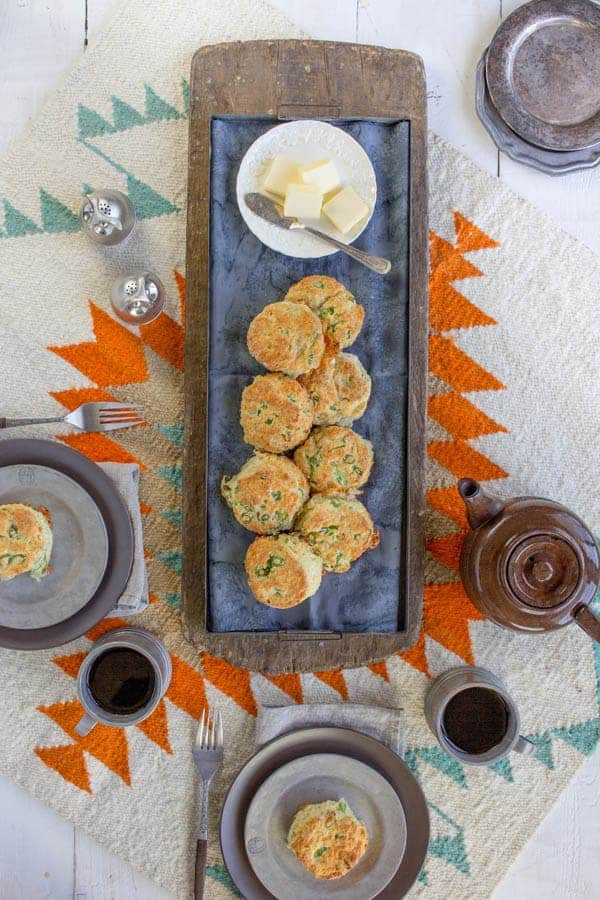 White Cheddar and Scallion Biscuits { www.thismessisours.com @thismessisours.com }