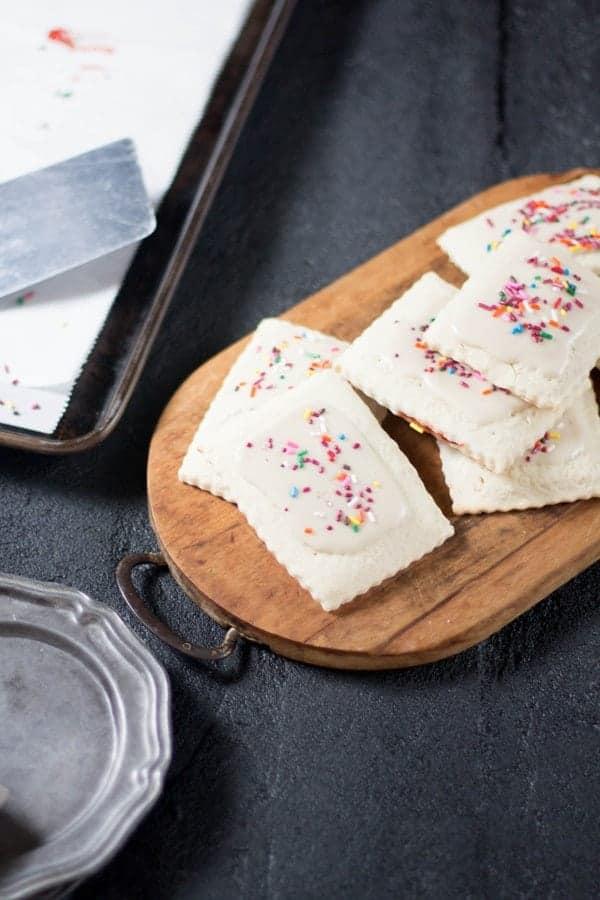 Gluten Free Frosted Strawberry Pop-Tarts Toaster Pastries recipe by @gfshoestring on @beardandbonnet www.beardandbonnet.com