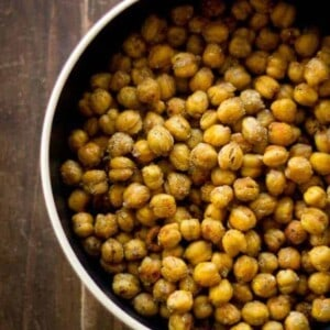 "Crispy ""Chicken"" Chickpeas with Massel by @beardandbonnet www.beardandbonnet.com"