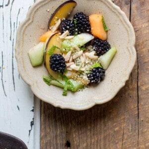 Summer's Best Fruit Salad recipe by @beardandbonnet with @manitobaharvest Hemp Hearts {www.beardandbonnet.com}