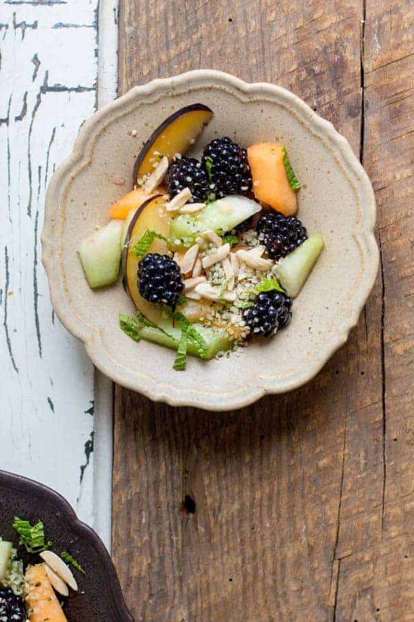 Summer's Best Fruit Salad recipe by @beardandbonnet with @manitobaharvest Hemp Hearts {www.thismessisours.com}