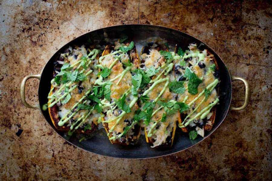 Delicata Squash Burrito Bowls | @thismessisours
