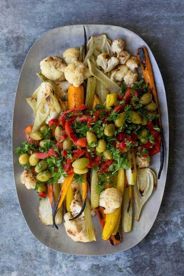 Giardiniera Roasted Vegetables recipe by @beardandbonnet www.beardandbonnet.com