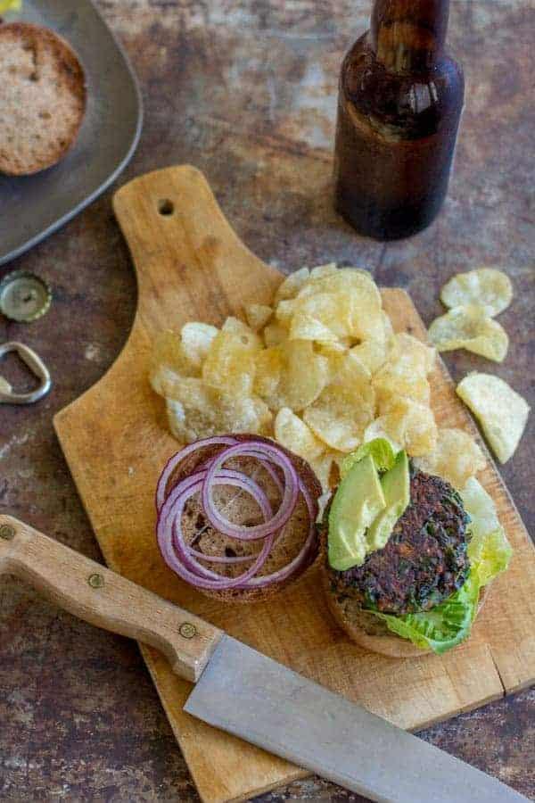 Autumn Spiced Veggie Burgers recipe by @beardandbonnet on www.beardandbonnet.com