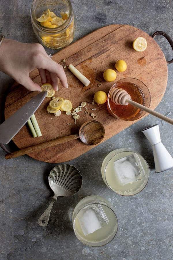 Lemongrass & Limequat Vodka Cooler recipe by @beardandbonnet on www.beardandbonnet.com