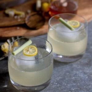Lemongrass & Limequat Vodka Cooler recipe by @beardandbonnet on www.thismessisours.com