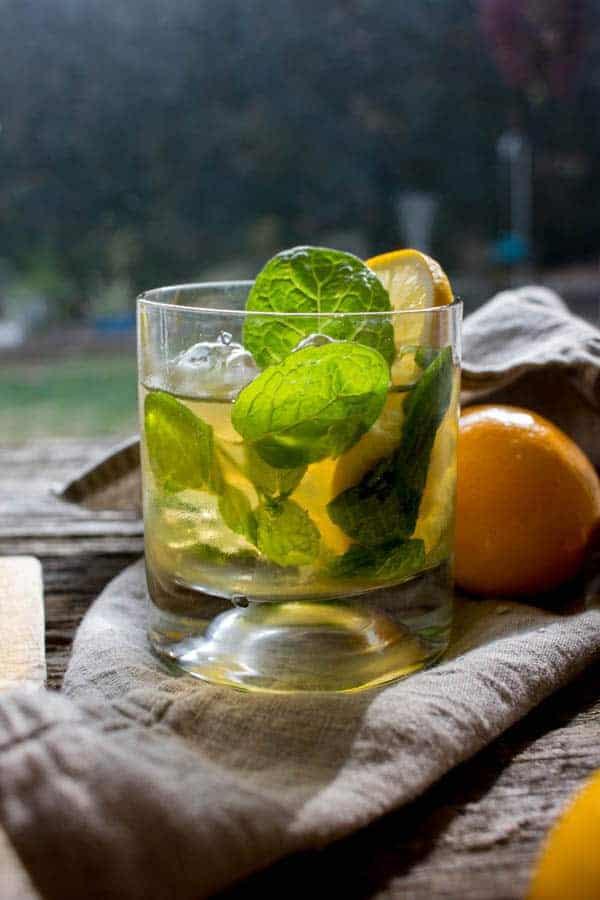 Meyer Lemon Mint Julep recipe by @beardandbonnet