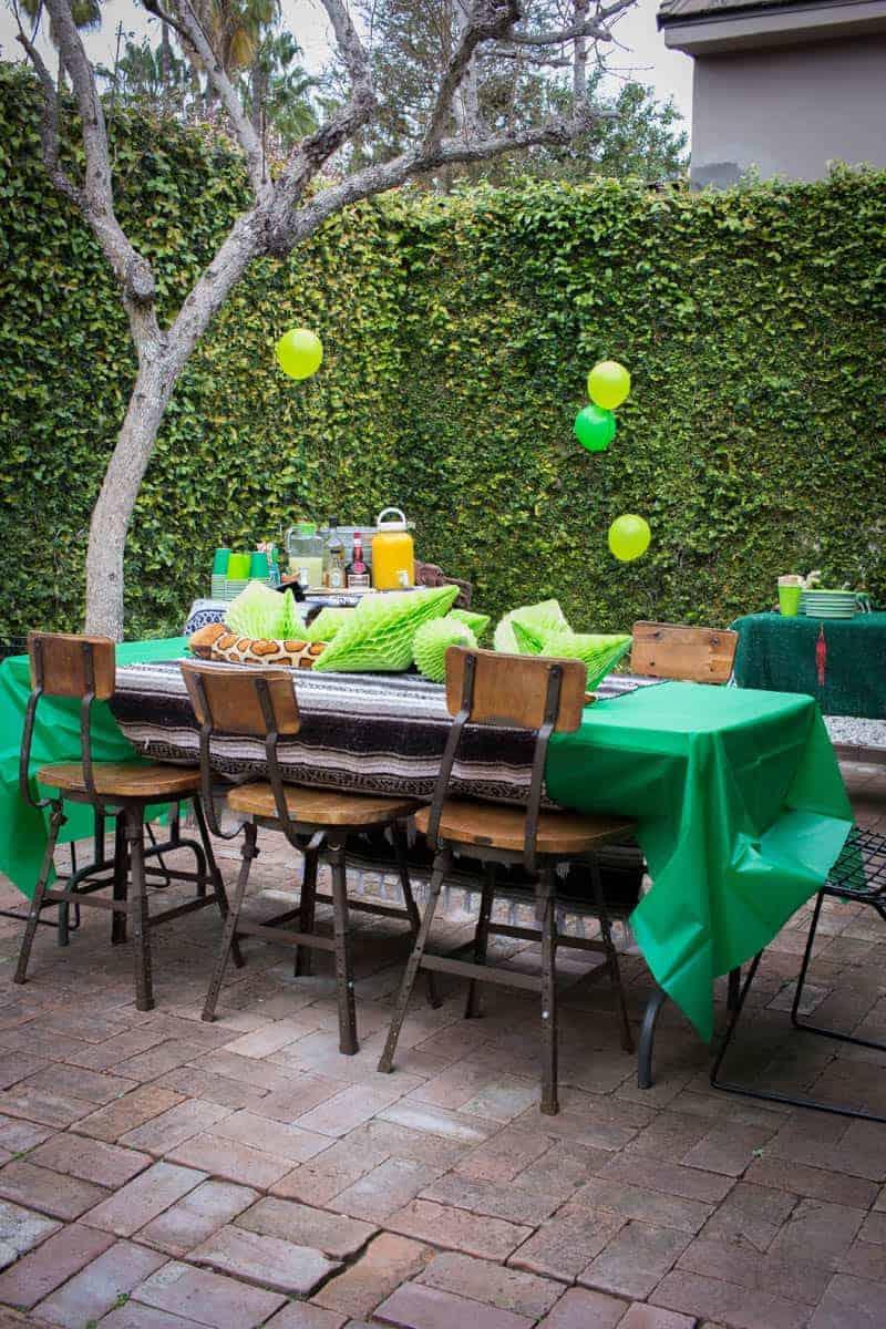 Big Green Birthday Party on @beardandbonnet