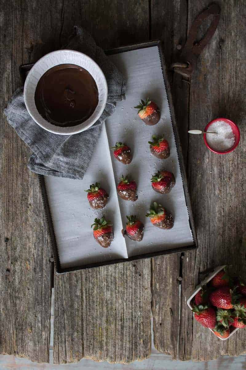 Melting Chocolate For Strawberry Dipping