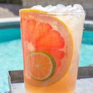 Chamomile Citrus Paloma recipe by @beardandbonnet on thismessisours.com