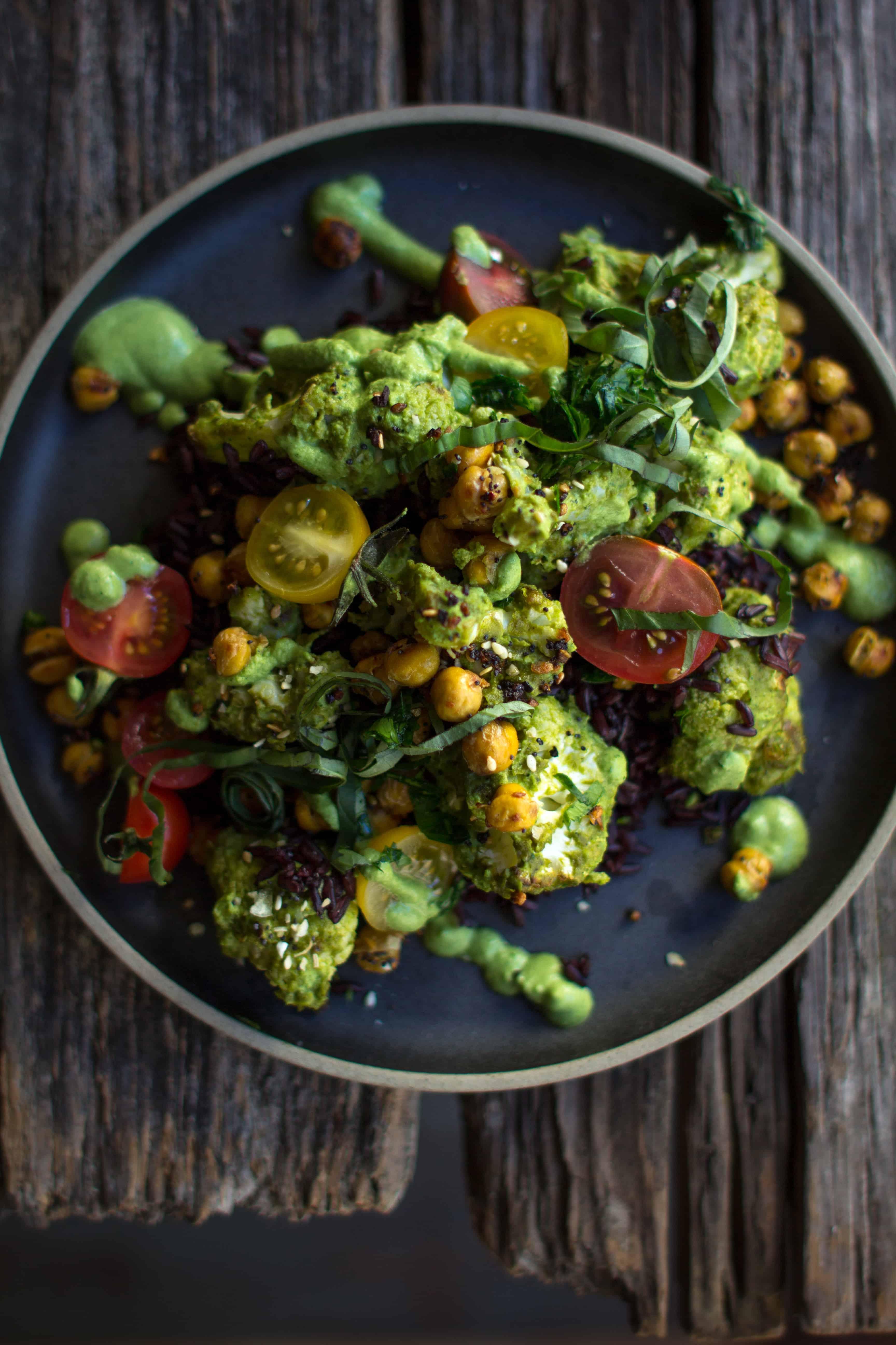 Best Ever Cauliflower Roast recipe by @beardandbonnet on www.thismessisours.com