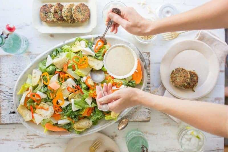 Summer Love Salad with Citrus Laced Quinoa Cakes recipe by @beardandbonnet