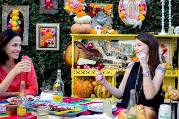 Day of the Dead feast decorations and menu on @beardandbonnet with @holajalapeno , @saltandwind and @melissasproduce