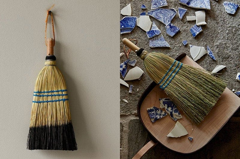 Be still my heart. These handmade brooms are not only sturdy and useful but simply stunning! Just look at them! From cleaning up cheerios to broken glass, I'm constantly using a handheld broom and dustpan. Leave that cheap plastic dustpan and broom under the sink (or just get rid of them completely), because this duo puts the chic in cleaning. | featured on @thismessisours