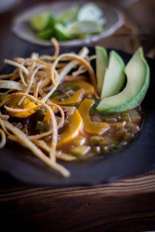 Vegan Tortilla Soup with a twist of autumn | @beardandbonnet