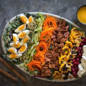 Autumn Cobb Salad + Turmeric Poppy Seed Dressing | @thismessisours