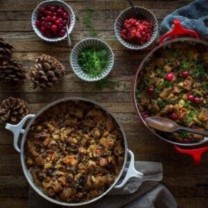 Gluten Free Thanksgiving Sourdough Stuffing | @thismessisours