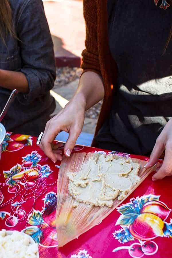 Masa for spicy black bean and cheese tamales | @beardandbonnet