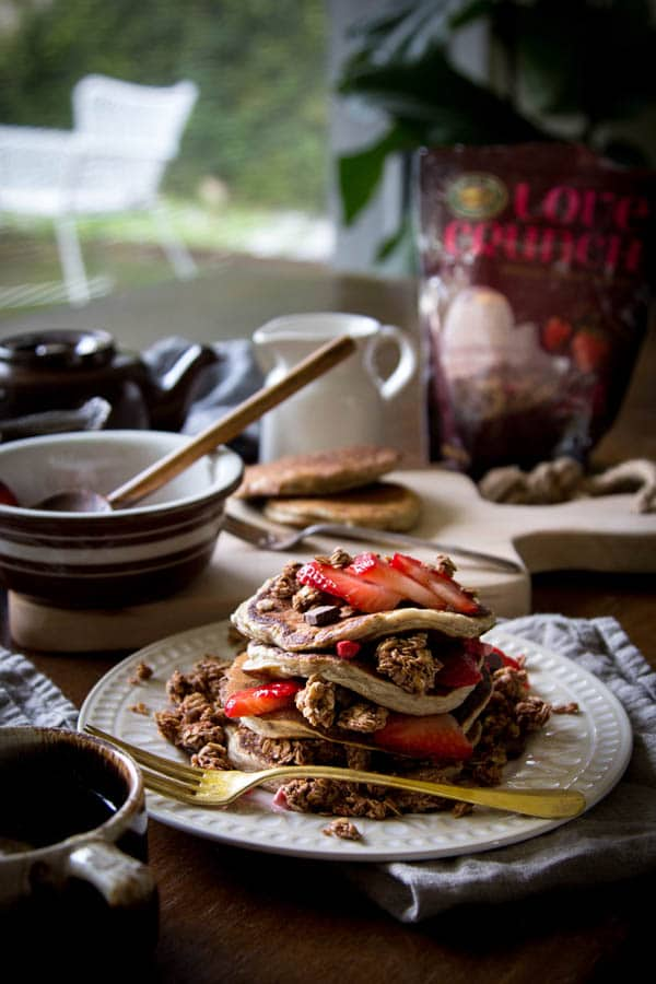 Mixed Berry and Chocolate Crunch Cakes    @thismessisours @naturespath
