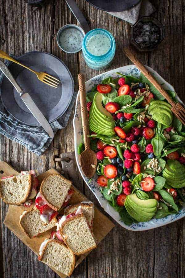 Strawberry-Pesto Melt recipe from Superfood Weeknight Meals on @thismessisours
