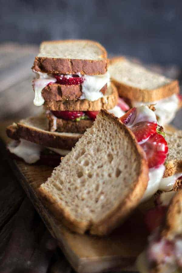 Strawberry-Pesto Melt recipe from Superfood Weeknight Meals by Kelly Pfeiffer on @thismessisours