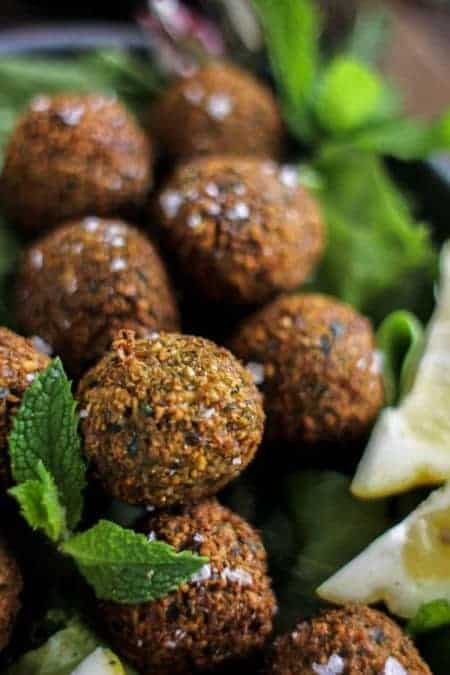 falafel close up image