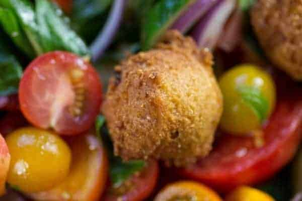 Hushpuppy Panzanella recipe || @thismessisours
