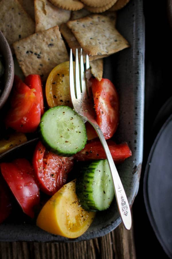 Southern Picnic Platter recipe || Tomato & Cucumber salad was one of my grandmother's summer go-to's.|| @thismessisours