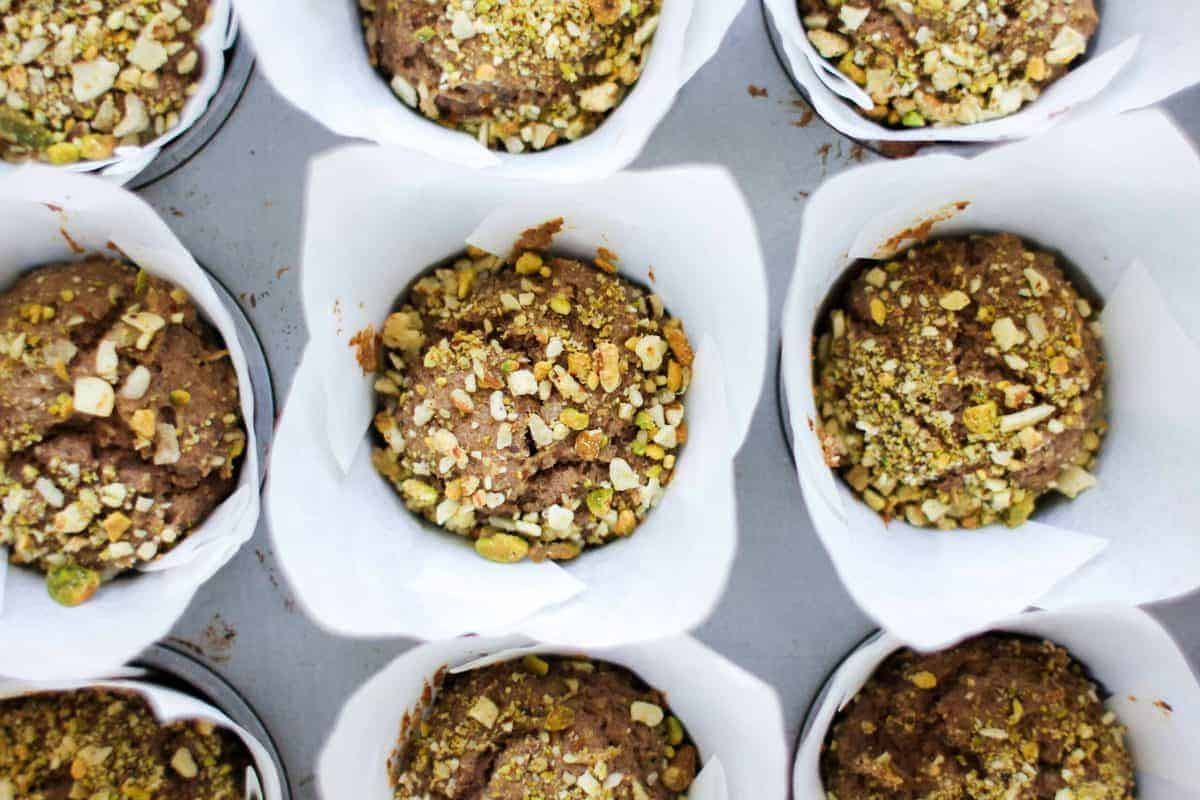 Power Up Apple Protein Muffins recipe || Start off you day on the right foot with these apple laced protein muffins! || @thismessisours @pyuresweet #spon