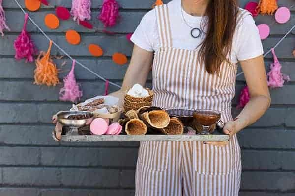 Gluten Free Waffle Cones recipe ||Chocolate & vanilla versions. || @thismessisours #FriendsWhoFete