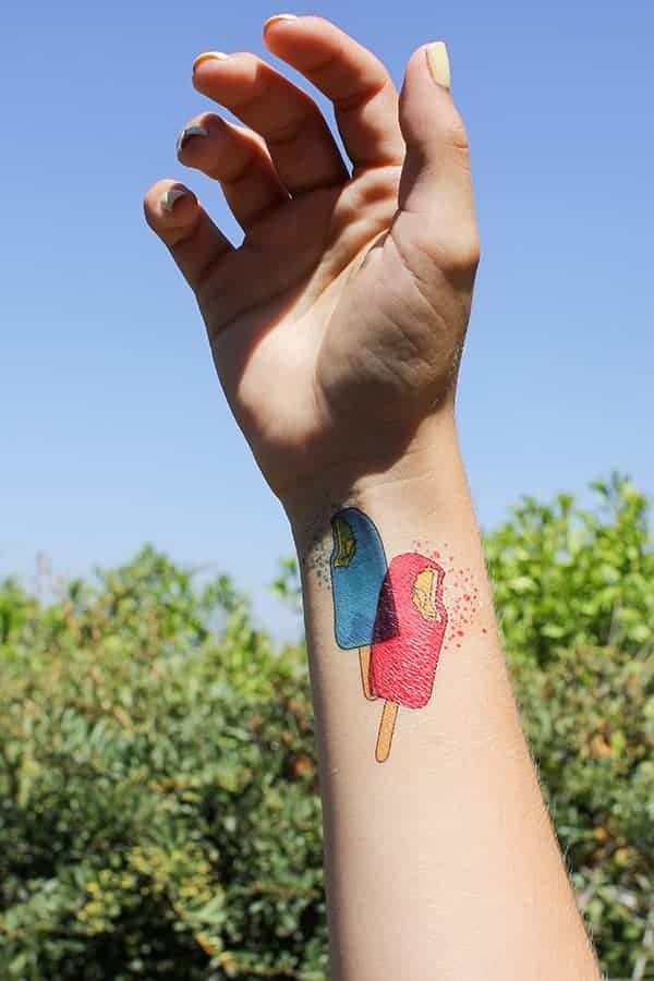 How To Print Your Own Temporary Ice Cream Tattoos || Kids of all ages will love these DIY temporary tattoos! || @thismessisours #friendswhofete