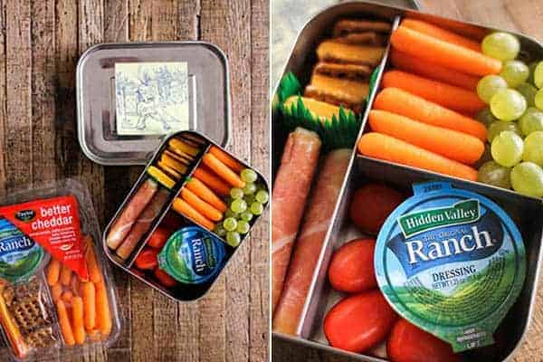 4 Easy Lunch Boxes For Busy Weekdays || Better Cheddar Snack Trays || @thismessisours #ad @taylorfarms