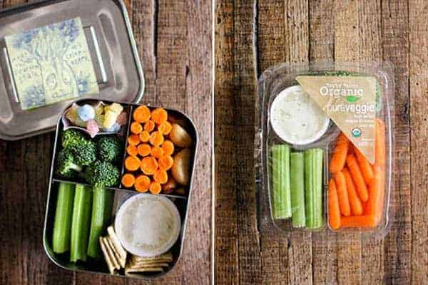 4 Easy Lunch Boxes For Busy Weekdays || Pure Veggies Snack Trays || @thismessisours #ad @taylorfarms