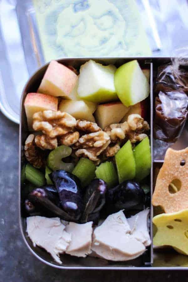 Deconstructed Waldorf Salad recipe || A modern lunchbox spin on a classic waldorf salad. || #glutenfree #projectlunchbox