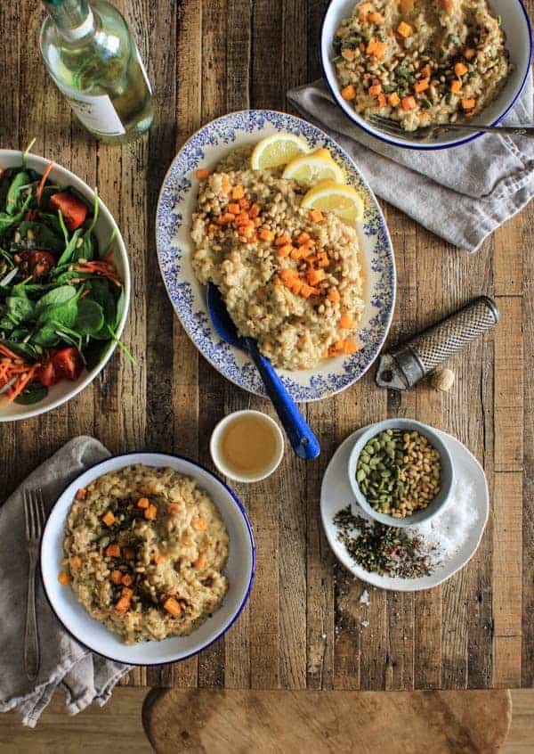 Savory Butternut Risotto recipe    From the 10th anniversary edition of Veganomicon    @thismessisours #vegan #glutenfree