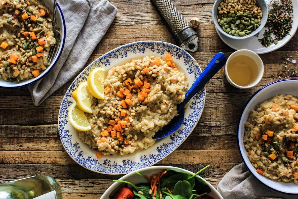 Savory Butternut Risotto recipe || From the 10th anniversary edition of Veganomicon || @thismessisours #vegan #glutenfree