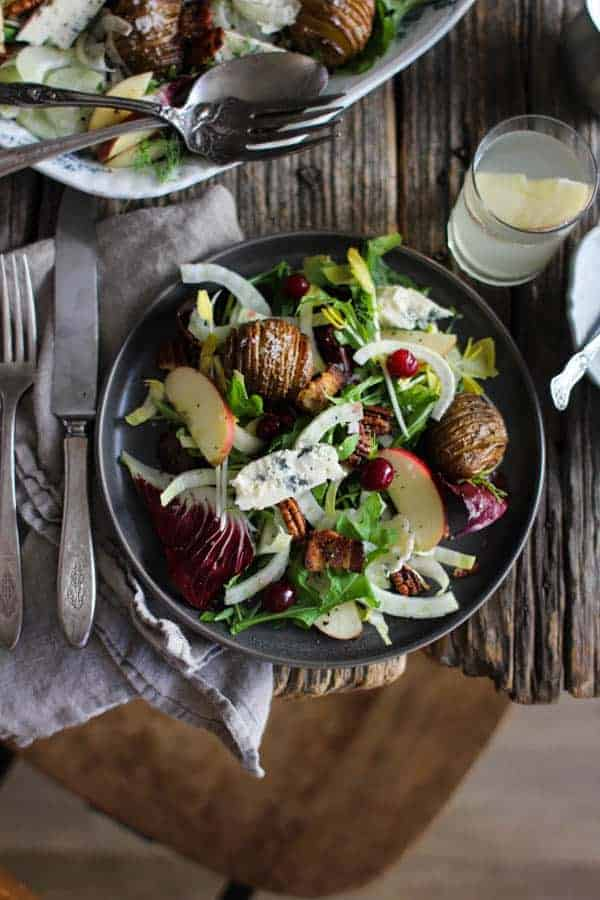 A bowl of Orchard Inspired Holiday Salad