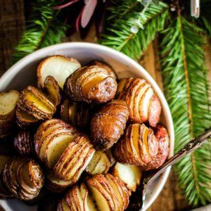 hasselback sliced roasted potatoes