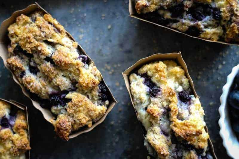 Small blueberry quick loaves
