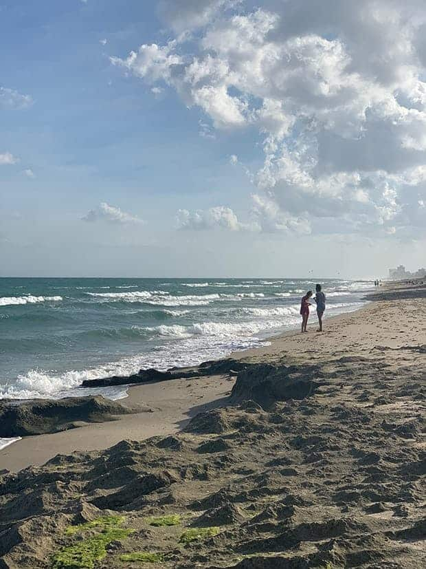 2 girls on the beach in Boca Raton Florida