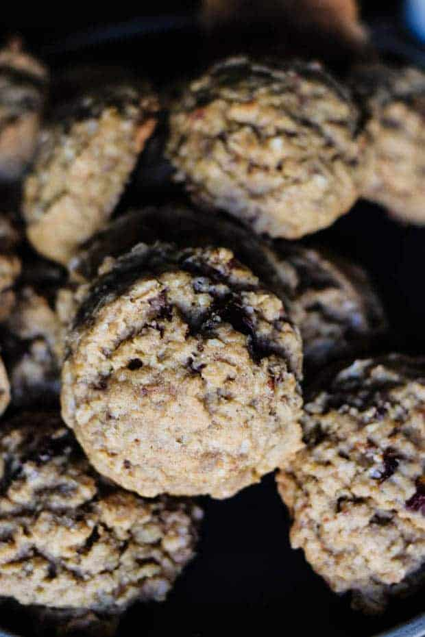 A pile of Gluten Free Oatmeal Date Cookies