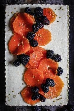 Paleo Coconut and Orange Creamsicle Tart