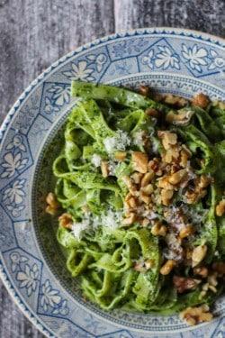 The Wine Country Table || Walnut Kale Pesto